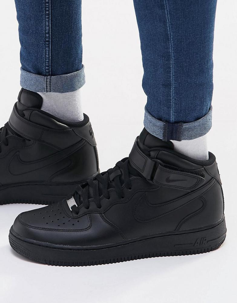 air force 1 mid noir