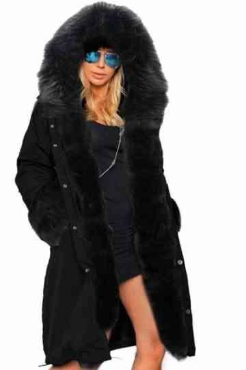Manteau Femme Hiver Avec Capuche, Manteau Noir Femme Pas